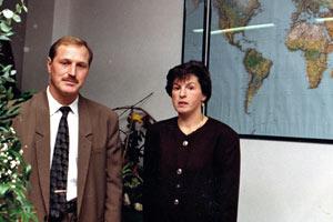Attilio e Milena Garbin negli anni 90